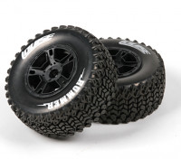 LOUISE SC-悍马1/10规模卡车前轮软胎/黑眼圈/安装