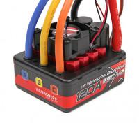 TrackStar 1/8无刷无传感器120A防水ESC V2