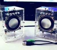 DIY有源音箱套件,带白色外壳