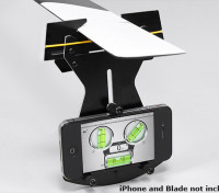无副翼直升机螺距规使用W /智能手机