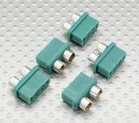 银色环MPX连接器,阴(每包5片装)