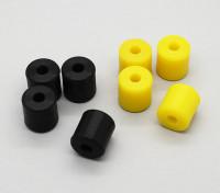 大黄蜂 - 硅凝胶 - 沙发套(黑色,黄色)(4支/袋)