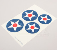 规模国家空军徽章贴纸表 - 美国(大A型)
