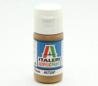 Italeri丙烯酸涂料 - 金属光泽黄铜