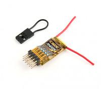 OrangeRx R410X DSMX支持4路/ 6路PWM / CPPM的2.4GHz接收器
