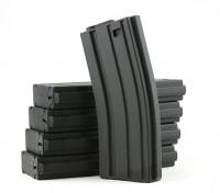 国王武器120rounds杂志的丸井M4 / M16 AEG系列(黑色,5片/盒)