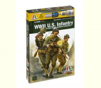 Italeri 1/56规模WWll美国步兵军事人物套件