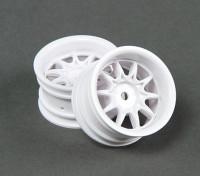 乘坐1/10 Mini 10的辐轮4毫米偏移 - 怀特(2个)