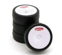 乘车前胶合1/10房车轮胎 - 革命高抓地轮胎束带Re25瓦特/泡沫插件(4块)