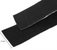 涤纶魔术贴皮尔正棒(黑色)(1米)