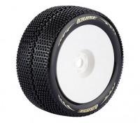 胶印LOUISE T-TURBO 1/8比例Truggy轮胎超软胎/ 1/2 /白色框/安装