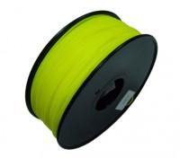 HobbyKing 3D打印机长丝1.75毫米HIPS 1KG阀芯(固体黄色)