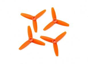 Gemfan圆头聚碳酸酯3035 3叶螺旋桨橙色(CW / CCW)(2对)