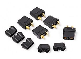 尼龙XT90连接器Female(5个/袋)黑