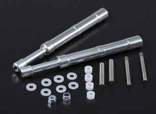 合金奥莱奥支柱130毫米60〜90级2PC直电源