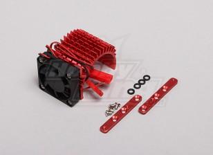 红色铝合金电机散热片瓦特/可调风扇(侧面)36毫米内转