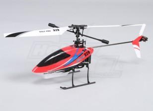 独奏临328 4路固定摊位直升机 - 红色(RTF)美国插头