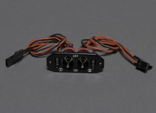 双RX / CDI电源开关带有双电荷/电压检测端口