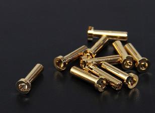 4毫米金连接器 - 薄型(10PC)