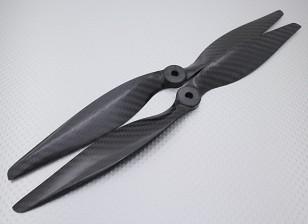 碳纤维螺旋桨12×6的黑色(CW / CCW)(2个)
