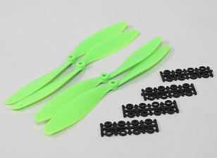 10x4.5 SF道具2PC CW CCW 2PC(绿)