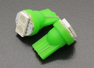 LED玉米灯12V 0.4W(2 LED) - 绿色(2个)