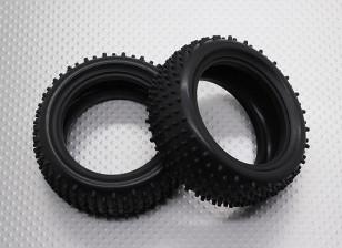 前轮W /圆形轮距(2件/袋) -  1/10 Quanum防暴四轮驱动赛车越野车