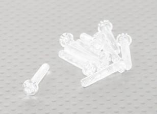透明的聚碳酸酯螺丝M4x20mm  -  10片/袋
