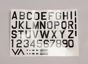 字母/符号黑银空军式(MED)样式1