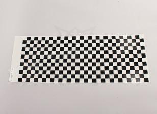 贴花薄板小Chequer纹黑色/清除590mmx180mm
