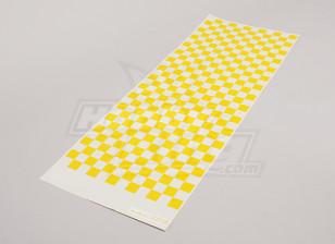 贴花薄板小Chequer模式黄色/清除590mmx180mm