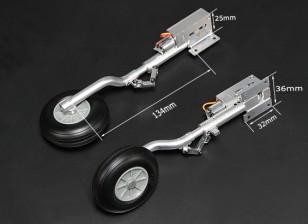 Turnigy全金属Servoless 90度与134毫米奥莱奥腿(2个)退刀