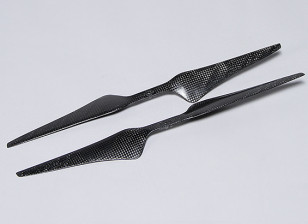 多转子碳纤维T型螺旋桨15x5.5黑色(CW / CCW)(2个)