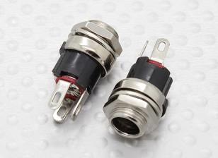 2.5毫米 - 5.5毫米DC机箱插座插孔(2PC)
