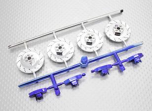 大规模盈亏光盘集 -  1/10 HobbyKing使命-D 4WD GTR漂移车(4设置)