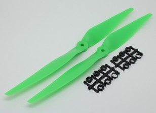 HobbyKing™螺旋桨11x5绿色(CCW)(2个)