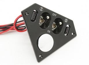 中型Trianglular双人双叶/ JR开关线束内置于充电插座和燃料点