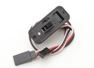 双叶开关线束内置的充电插座和电池指示灯