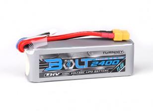 Turnigy博尔特2400mAh的3S 11.4V 65〜130℃的高压Lipoly包