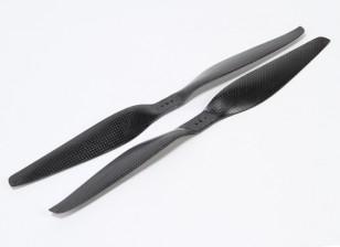 多转子碳纤维T型螺旋桨14x5.5黑色(CW / CCW)(2个)