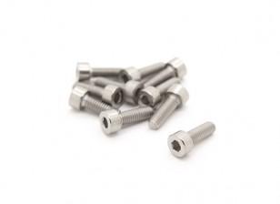 钛M4×12 Sockethead六角螺丝(10片/袋)