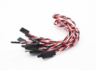 扭曲的30厘米伺服铅延伸(双叶)用钩22AWG(5片/袋)