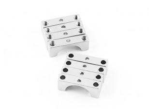银色阳极双面CNC铝合金管夹直径12mm