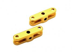 29毫米折叠螺旋桨适配器3毫米轴(金)1对