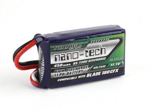 Turnigy纳米技术450mAh 3S 65C前列(E-FLITE兼容刀片180CFX EFLB4503SJ30)