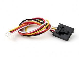 200毫米5针Molex / JR到6针白色连接引线