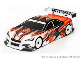 Bittydesign前锋-SR 3.0190毫米1/10房车赛车车身(吼批准)