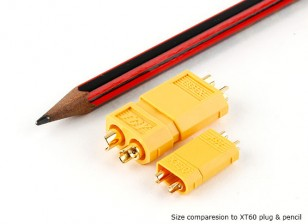 XT30电源连接器为30A连续应用程序(ESC侧)(5片装)