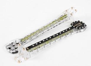上翘的LED升级V500 / H550和DJI Flamewheel多轴飞行器(绿色)武器(2个)