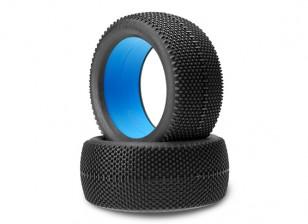 JCONCEPTS黑色夹克1/8卡车轮胎 - 黑色(MEGA软)复合